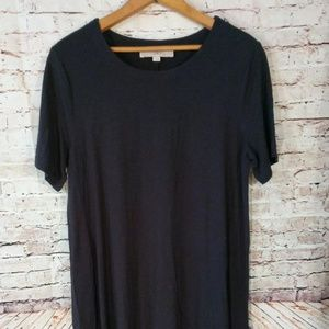 Black LOFT tee shirt dress, size med!